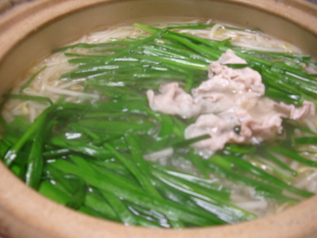 平野レミさんありがとう♪ぶたニラ鍋レシピ☆: * 「なか」と「よし」 *